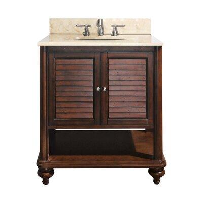 Tropica 25 Single Bathroom Vanity Set Base Finish: Antique Brown, Top Finish: Galala Beige