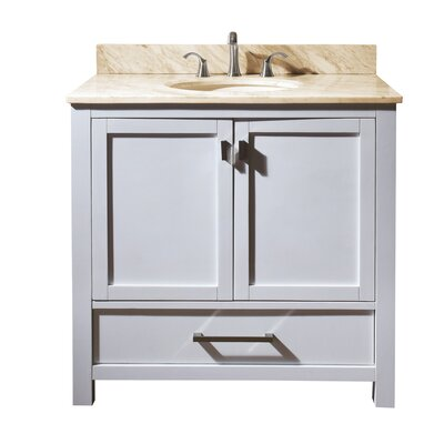 Modero 37 Single Bathroom Vanity Set Top Finish: Natural Galala Beige