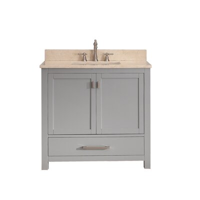 Modero 37 Single Bathroom Vanity Set Top Finish: Galala Beige Marble