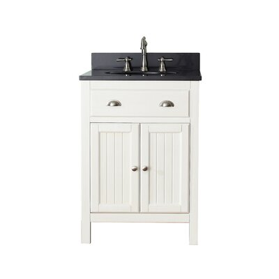 Bunker Hill 25 Single Bathroom Vanity Set Top Finish: Black Granite