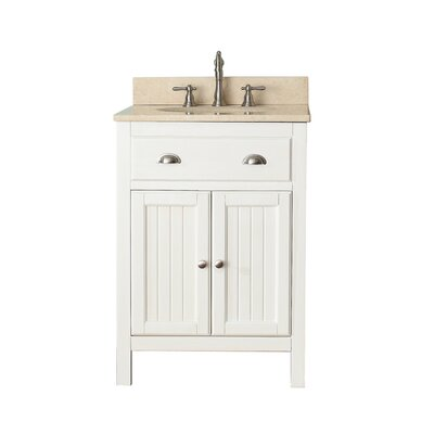 Hamilton 25 Single Bathroom Vanity Set Top Finish: Galala Beige Marble