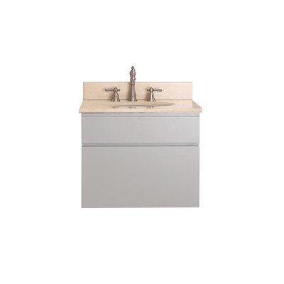 Tribeca 25 Single Wall Mounted Bathroom Vanity Set Top Finish: Galala Beige Marble