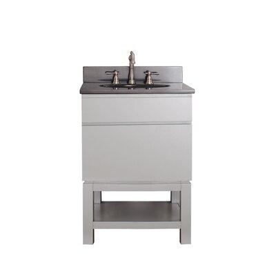 Tribeca 25 Single Bathroom Vanity Set Top Finish: Black Granite