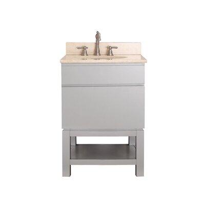 Tribeca 25 Single Bathroom Vanity Set Top Finish: Galala Beige Marble