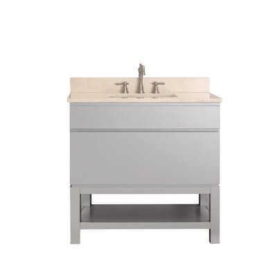 Tribeca 37 Single Bathroom Vanity Set Top Finish: Galala Beige Marble