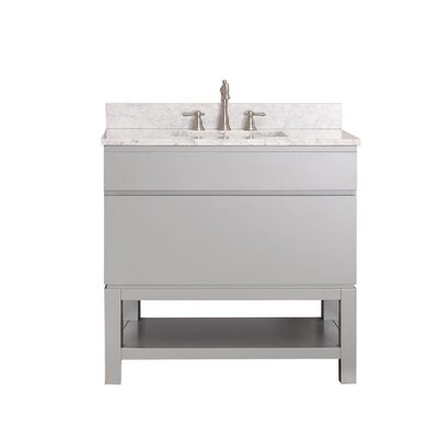 Tribeca 37 Single Bathroom Vanity Set Top Finish: Carrera White Marble