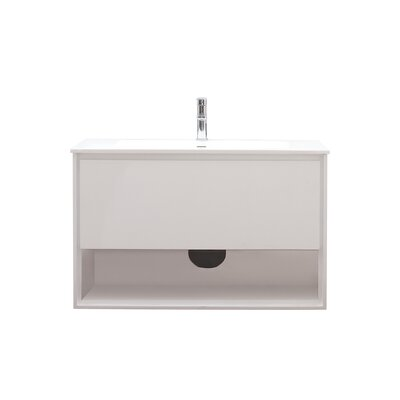 Sonoma 39 Single Bathroom Vanity Set Base Finish: Glossy white