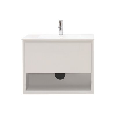 Sonoma 32 Single Bathroom Vanity Set Base Finish: Glossy white