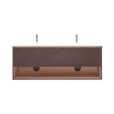 Sonoma 63 Double Bathroom Vanity Set Base Finish: Iron Wood