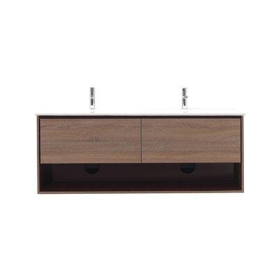 Sonoma 63 Double Bathroom Vanity Set Base Finish: Restored Khaki Wood