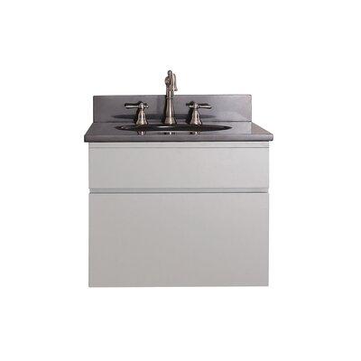 "Avanity Tribeca 25"" Single Wall Mounted Bathroom Vanity Set - Top Finish: Black Granite"