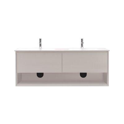 Sonoma 63 Double Bathroom Vanity Set Base Finish: Glossy white
