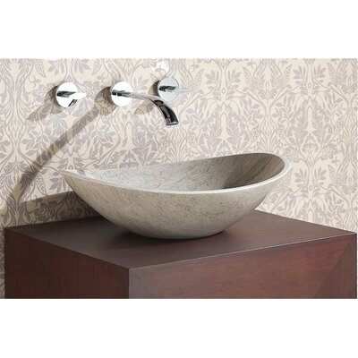 Oval Vessel�Bathroom�Sink Sink Finish: Gray Marble