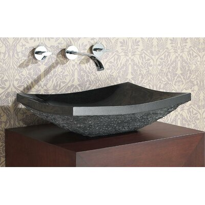 Rectangular Vessel�Bathroom�Sink Sink Finish: Black Granite Rough Exterior