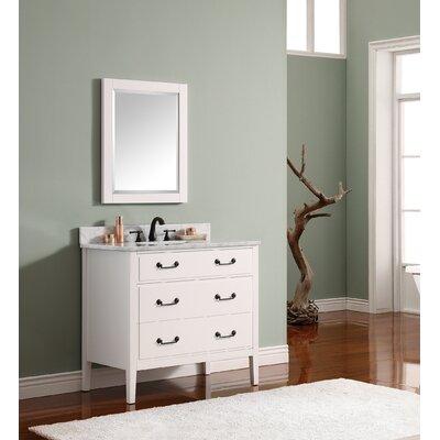 Delano 37 Single Modern Bathroom Vanity Set Base Finish: White, Top Finish: Carrera White