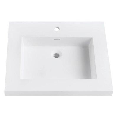 VersaStone Solid Surface 25 Single Bathroom Vanity Top