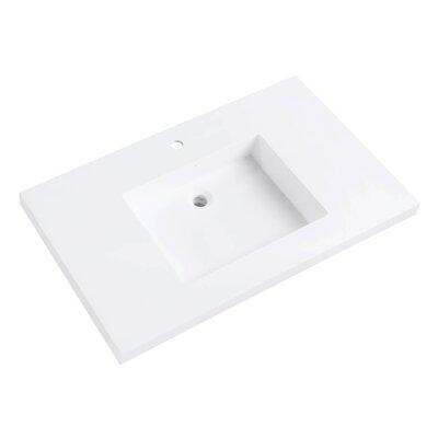 VersaStone Solid Surface 37 Single Bathroom Vanity Top