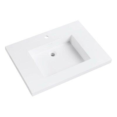 VersaStone Solid Surface 31 Single Bathroom Vanity Top