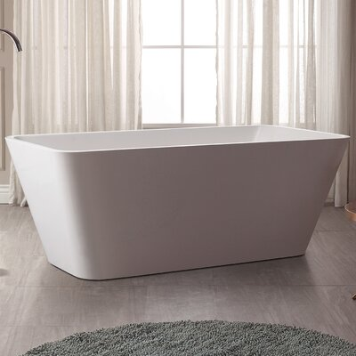 63 H x 32 W Soaking Bathtub