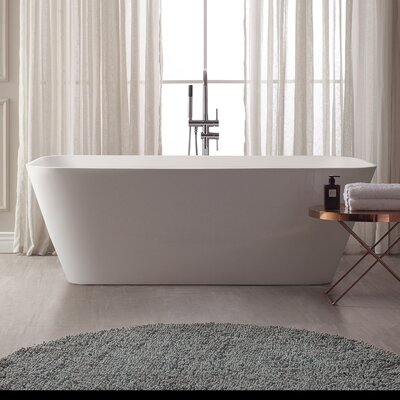 VersaStone 67 H x 32 W Soaking Bathtub