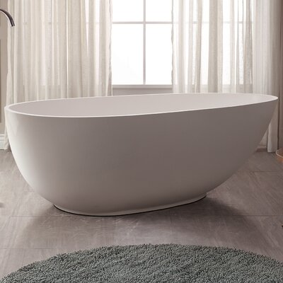 VersaStone 67 H x 34 W Soaking Bathtub