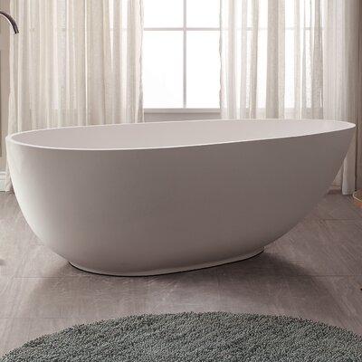 VersaStone 67 H x 34 W Soaking Bathtub
