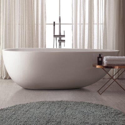 VersaStone 68 H x 33 W Soaking Bathtub