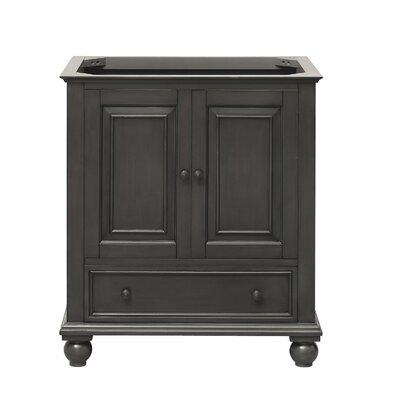 Thompson 30 Bathroom Vanity Base Base Finish: Charcoal Glaze
