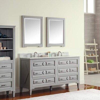 Kelly 61 Double Modern Bathroom Vanity Set Top Finish: Galala Beige