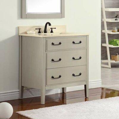 Delano 31 Single Modern Bathroom Vanity Set Base Finish: Taupe Glaze, Top Finish: Galala Beige