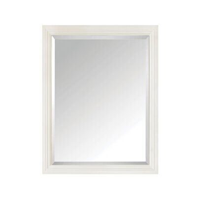 "Thompson Bathroom Framed Mirror Size: 30"" H x 24"" W x 1.8"" D, Finish: French White"