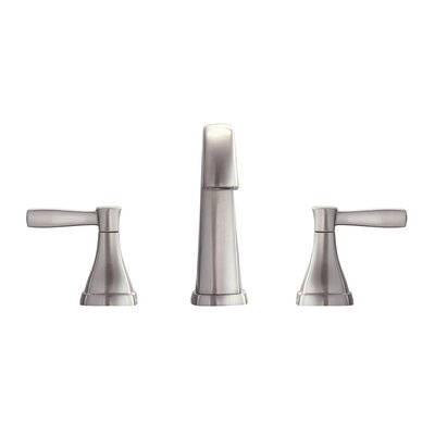 Clarice Double Handle Bathroom Widespread Sink Faucet Finish: Brushed Nickel