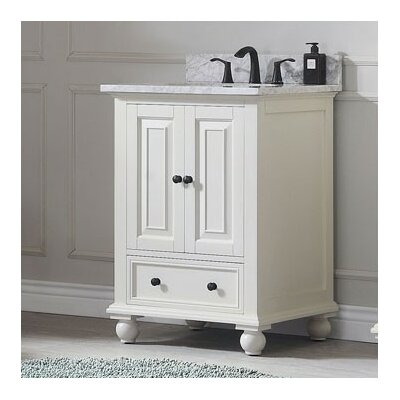 Thompson 24 Bathroom Vanity Base Base Finish: French White