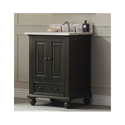 Thompson 24 Bathroom Vanity Base Base Finish: Charcoal Glaze