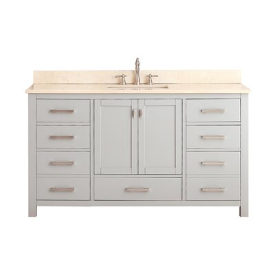 Modero 61 Single Bathroom Vanity Set Top Finish: Galala Beige Marble