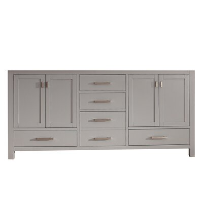 Modero 72 Double Bathroom Vanity Base Base Finish: Chilled Gray