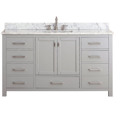Modero 61 Single Bathroom Vanity Set Top Finish: White
