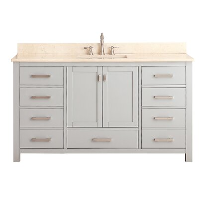 Modero 61 Single Bathroom Vanity Set Top Finish: Galala Beige
