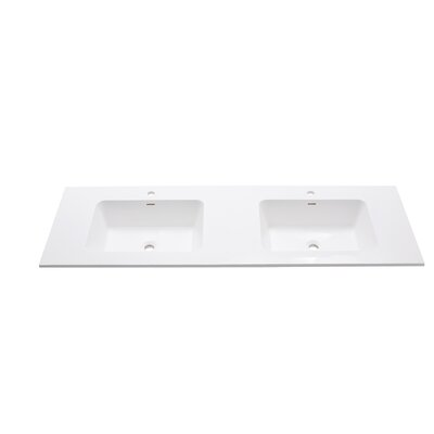 VersaStone 63 Double Bathroom Vanity Top Top Finish: Matte