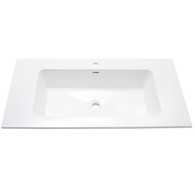 VersaStone Solid Surface 39 Single Bathroom Vanity Top Top Finish: Matte