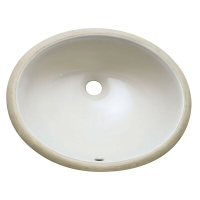 Vitreous China Oval Undermount Bathroom Sink Sink Finish: Linen