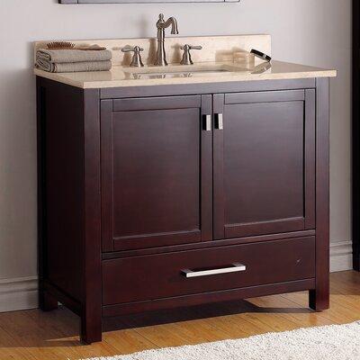 37 Single Bathroom Vanity Set Top Finish: Beige Marble