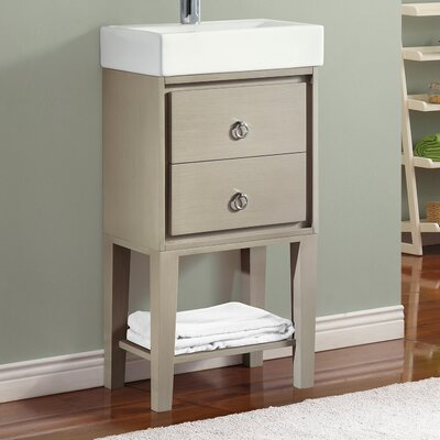 Kent 18 Single Modern Bathroom Vanity Set Base Finish: Taupe Glaze