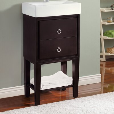Kent 18 Single Modern Bathroom Vanity Set Base Finish: Coffee