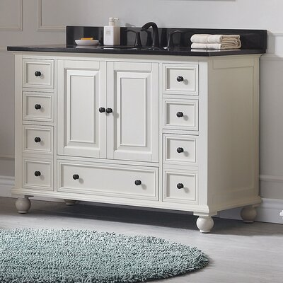 Thompson 48 Bathroom Vanity Base Base Finish: French White