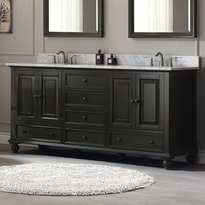 Thompson 72 Bathroom Vanity Base Base Finish: Charcoal Glaze