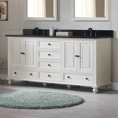 Thompson 72 Bathroom Vanity Base Base Finish: French White