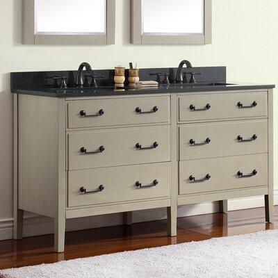 Delano 61 Single Modern Bathroom Vanity Set Base Finish: Taupe Glaze, Top Finish: Black Granite