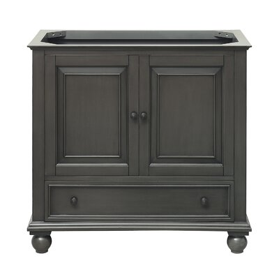 Thompson 36 Single Bathroom Vanity Base Base Finish: Charcoal Glaze