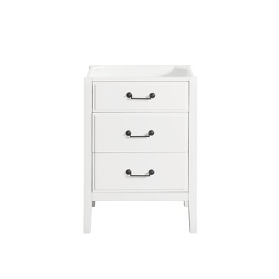 Delano 24 Single Bathroom Vanity Base Base Finish: White